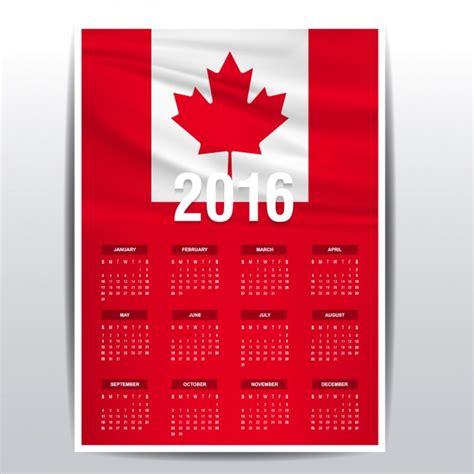 Calendario Canada Calendario De Canada De 2016 Descargar Vectores Gratis