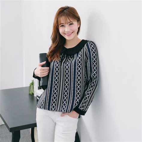 Blouse Korea Jerapa tokyo fashion womens collar blouse with tie neck japanese korean fashion ebay