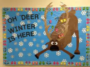 oh deer classroom decoration craft december winter bulletin board oh deer winter is here frozen s sven ideas
