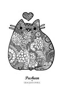Pusheen Kolorowanki 3 Gracjana Dybul Three Kittens Coloring Page