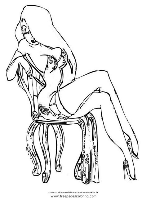 jessica rabbit coloring coloring page pinterest