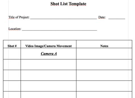 your video script storyboards and shot lists how to