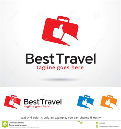 best travel logo template design vector stock vector