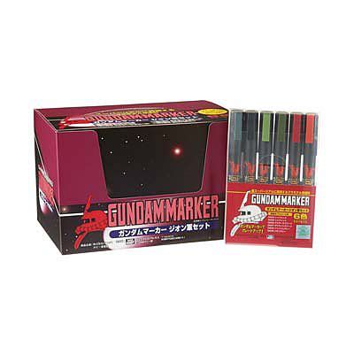Marker Gm108 Zeon Set gundam marker zeon set of 6 hobby craft paint marker gms108 by bandai gms108