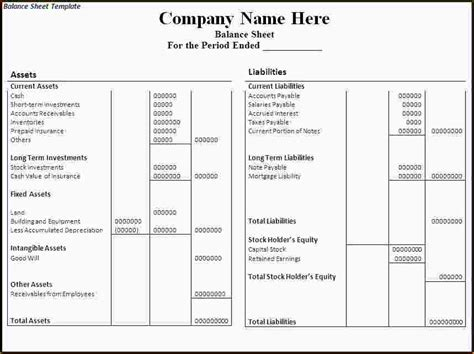 4 how to prepare a balance sheet ganttchart template