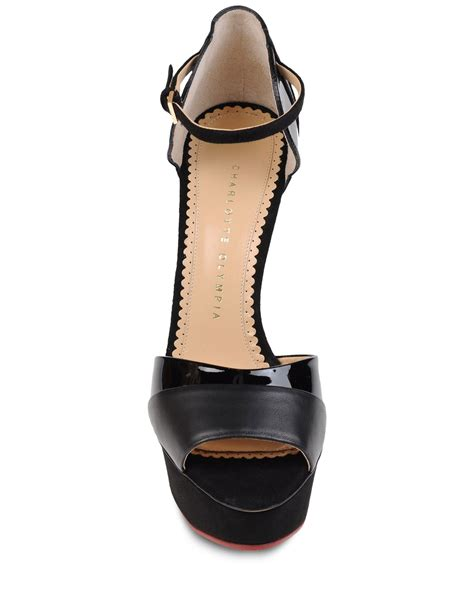 olympia sandals olympia sandals in black lyst