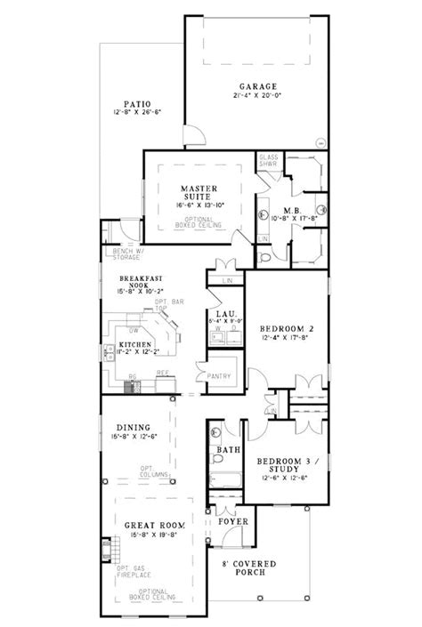floor plans for narrow lots hawkins corner narrow lot home plan 055d 0869 house