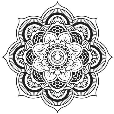 mandala tattoo zum aufkleben originelle mandala form eine h 252 bsche blume pinteres