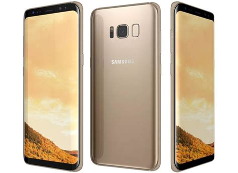 Samsung S8 Gold Samsung Galaxy S8 Maple Gold 3d Cgtrader