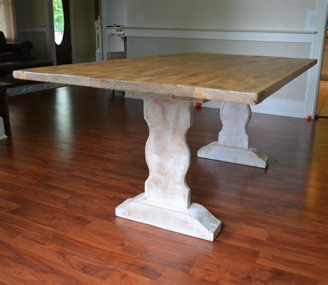farm dining table reclaimed wood dining table whitewash