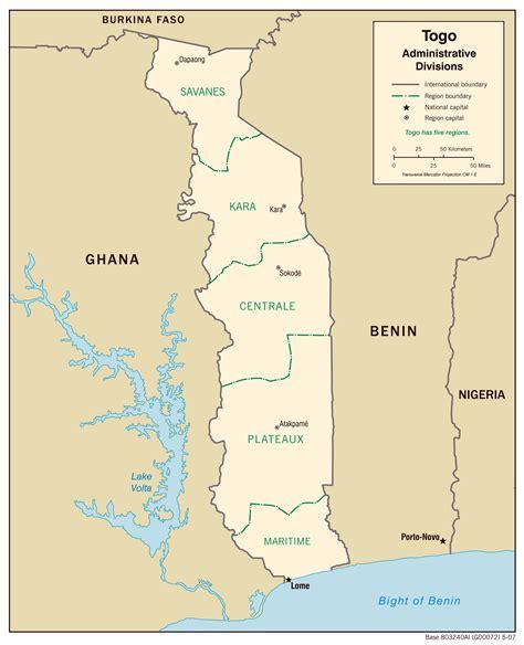 africa map togo kort togo geografi landkort rejseatlas