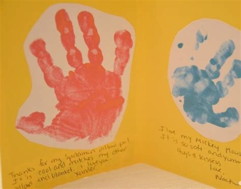 card handprint how to make thank you cards using your child s handprint