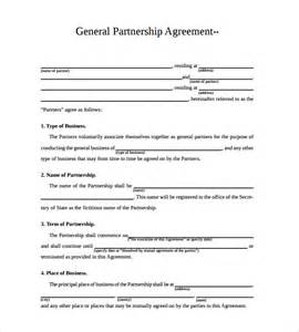 Llc Partnership Agreement Template Free Business Partnership Agreement 6 Download Documents In
