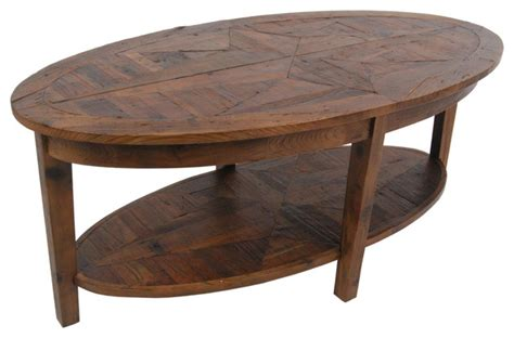 Rustic Oval Coffee Table Alaterre Alaterre Revive Reclaimed Coffee Table In View In Your Room Houzz