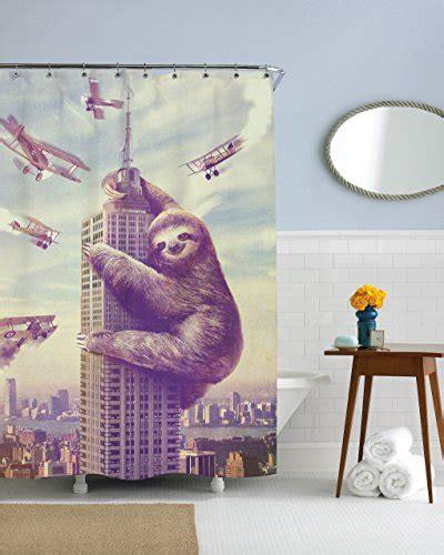 slothzilla shower curtain sharp shirter slothzilla shower curtains curtain store