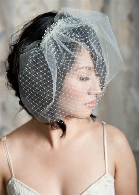 hairstyles   birdcage veils weddingelation