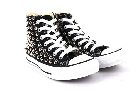 spiked sneakers studded all high top chuck converse black