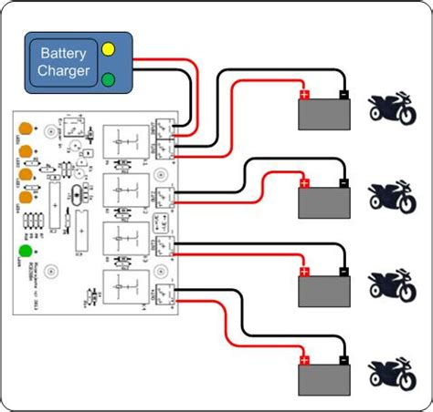 motorcycle battery wiring diagram 28 images simple