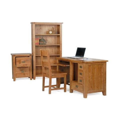 office furniture oak florence solid rustic oak office furniture traditional computer pc desk ebay
