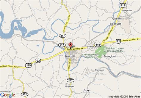 comfort inn blairsville pa map of comfort inn blairsville blairsville
