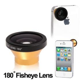 Fisheye Wide Angle Golden Lens 180 Degree For Iphone 4 4s 1 paperang p1 printer foto bluetooth 4 0 white jakartanotebook