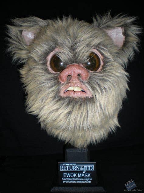 printable ewok mask ewok mask movie prop from star wars episode vi return