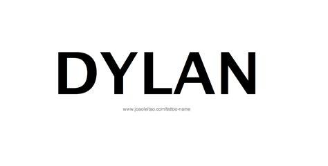 dylan name tattoo designs