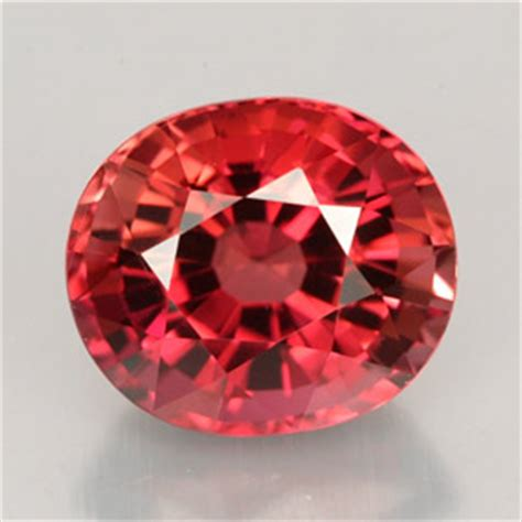 red gem 4 8ct rose red tourmaline gem from mozambique natural and