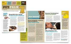 animal shelter amp pet adoption newsletter template word