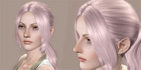sims 3 pigtails with bangs pigtail with middle parth bangs cazy s helena retextured