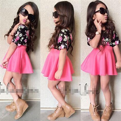advance age fashions spring 2015black females fashion kids baby girls toddler shirt dress set clothes