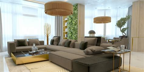 Golden Living Room by Marble And Golden Living Room Luxury Lighting Designs