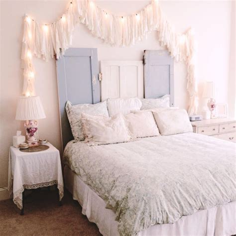 diy door headboard 35 amazingly pretty shabby chic bedroom design and decor