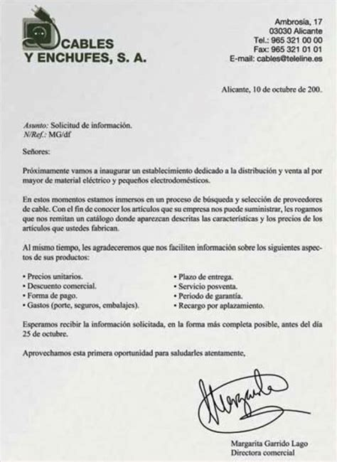 carta de solicitud de informacion modelo carta solicitud de informaci 243 n ejemplos de