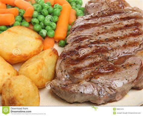 dinner potatoes sirloin steak dinner royalty free stock photo
