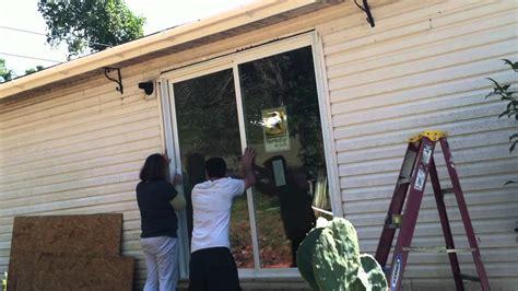 How To Install Glass In A Door Diy How To Install Sliding Glass Door