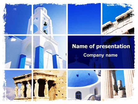 ppt templates for greek greek churches powerpoint template backgrounds 06714
