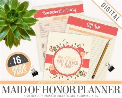 peculiar printable wedding planner instant download ultimate wedding ultimate maid of honor wedding planner organizer kit