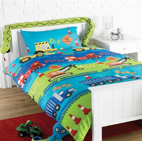 tractor bedding set road works truck tractor single duvet set quilt cover