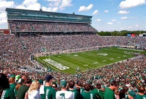michigan state football stadium seating capacity michigan state s master plan includes end zone seating