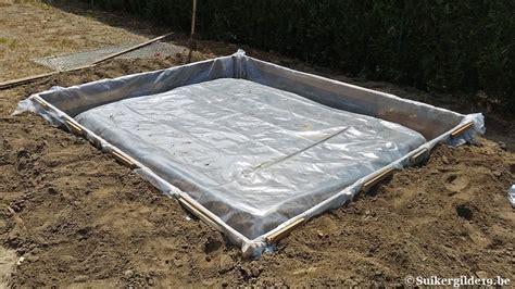 fundering gieten tuinhuis betonplaat tuinhuis