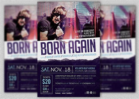 gospel rock band concert flyer template inspiks market
