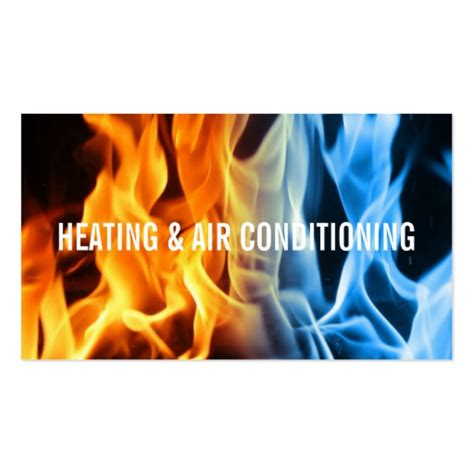heating and cooling business card templates hvac business card templates page2 bizcardstudio