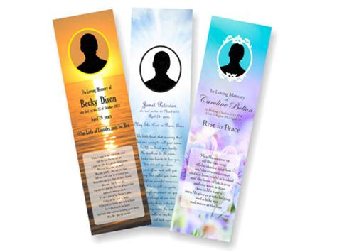 memorial bookmarks template free funeral prayer memorial cards bookmarks printed delivered