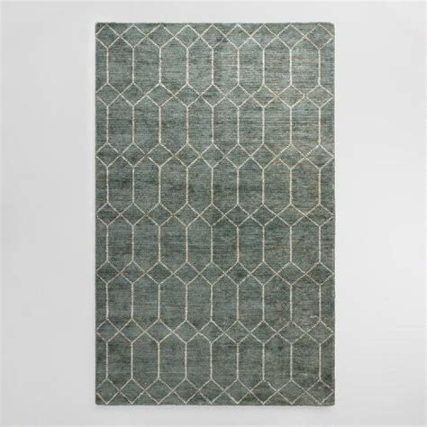 viscose rugs blue green tufted cotton and viscose soren area rug