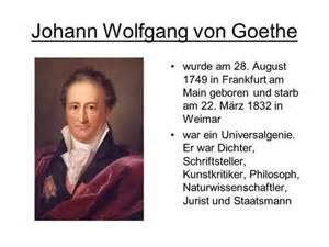 Lebenslauf Johann Wolfgang Goethe Literaturepoche Der Klassik Ppt Herunterladen