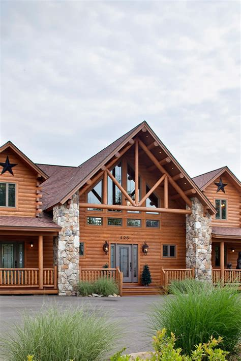 lakeview cedar log home floor plan katahdin house plans