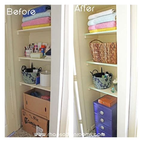 Small Bathroom Closet Ideas Organizing A Small Bathroom Space Hometalk