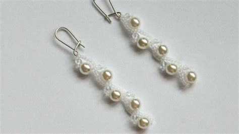 Bead Your Own Sassy Earrings Or Someone Do It For You Either Way Its Your Choice At Designer Fashiontribes Fashion by How To Make Earrings With Pearls Diy Crafts