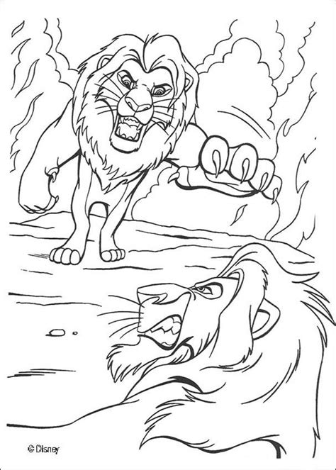 mufasa fights scar coloring pages hellokids com